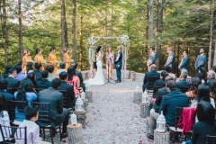 ceremony with chiavari chairs