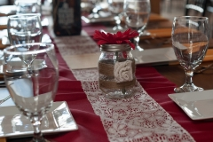 autum dressed farm table